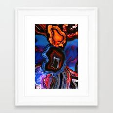 Agate, What springs from Earth dissolves to Earth again Framed Art Print