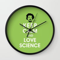 Keep Calm And Love Scien… Wall Clock