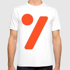 seven  SMALL White Mens Fitted Tee