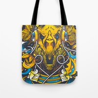Golden Tricerapod Tote Bag