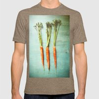 Eat Your Vegetables Mens Fitted Tee Tri-Coffee SMALL