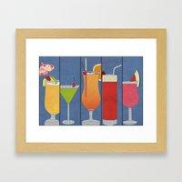 Fruit Drinks Framed Art Print
