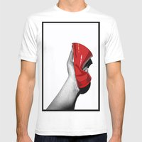 Red Cup Mens Fitted Tee White SMALL