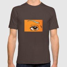 Eye orange 4 Mens Fitted Tee Brown SMALL