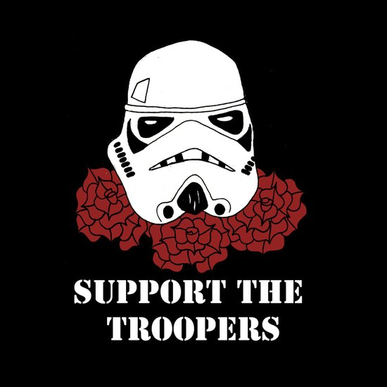 Support the Troopers Canvas Print