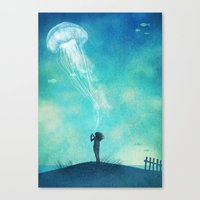 The Thing About Jellyfis… Canvas Print