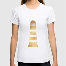 Gold Lighthouse Womens Fitted Tee Ash Grey SMALL