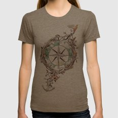 Bon Voyage Womens Fitted Tee Tri-Coffee SMALL