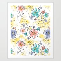 Brilliant Blooms Art Print