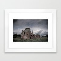 Faded Memories: Caerlaverock Castle Framed Art Print