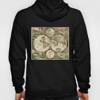 Old Map Of World Hemisph… Hoody