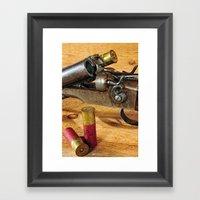 Double Barrel  Framed Art Print