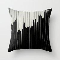 STEEL & MILK II. Throw Pillow
