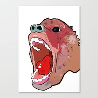 Raging Ape Canvas Print
