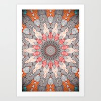 mandala Art Prints featuring manDala by Monika Strigel