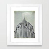 Vintage Chrysler Cuildin… Framed Art Print