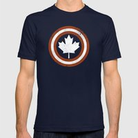 Captain Canada Mens Fitted Tee Navy SMALL