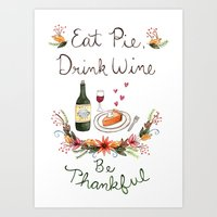 Be Thankful Art Print