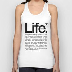 Life.* Available for a limited time only. (White) Unisex Tank Top