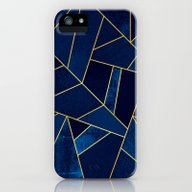 Blue Stone With Gold Lin… iPhone (5, 5s) Slim Case