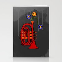 Happy to see my pocket trumpet Stationery Cards