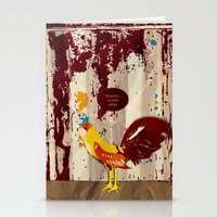 the rooster still bites Stationery Cards