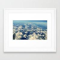 Flying Over Mountain Top… Framed Art Print