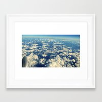 Flying Over Mountain Top… Framed Art Print