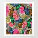 Orchid Colors Art Print