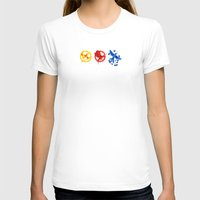 The H Games - Mockingjay Womens Fitted Tee White SMALL