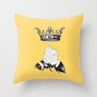 Queen Bee Throw Pillow