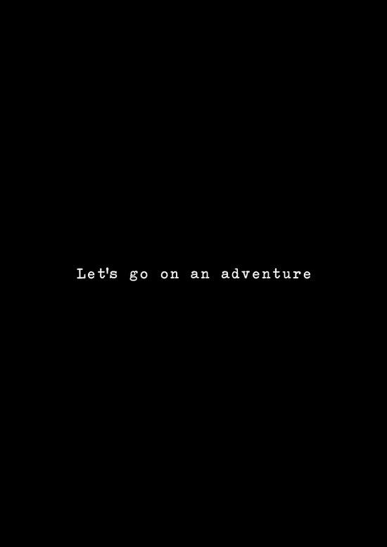 Adventure [Black] Art Print