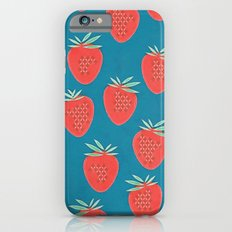 GIVING A DONKEY STRAWBERRIES - BLUE iPhone 6 Slim Case