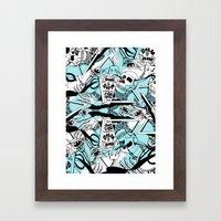 Crash & Burn Framed Art Print