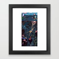 Swim Meet Framed Art Print