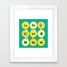Pineapple Rings Framed Art Print