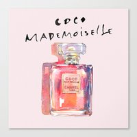 Perfume Coco Mademoisell… Canvas Print