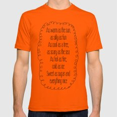 everything at once Mens Fitted Tee Orange SMALL