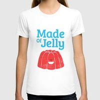Made Of Jelly Womens Fitted Tee White SMALL