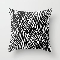 Linocut Throw Pillow