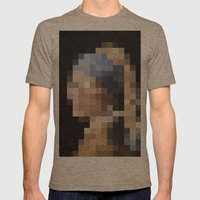 mosaic Mens Fitted Tee Tri-Coffee SMALL