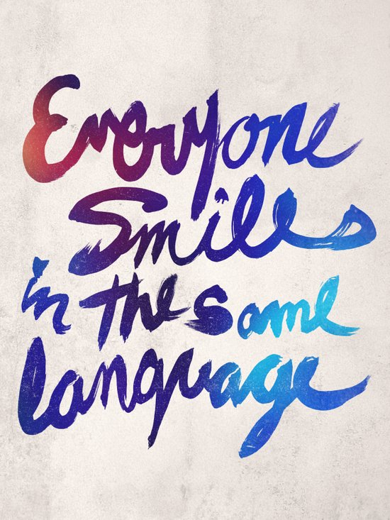 Everyone Smiles Art Print