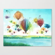 Balloon Explosion Canvas Print