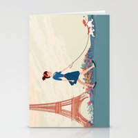 An Afternoon Stroll In P… Stationery Cards