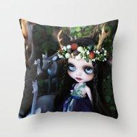 ISOBEL FAWN (Ooak BLYTHE… Throw Pillow