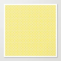 U15: atomic yellow B Canvas Print
