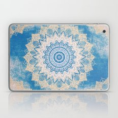 GOLD AND BLUE BOHOCHIC MANDALA Laptop & iPad Skin