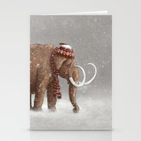 winter Stationery Cards featuring The Ice Age Sucked by Terry Fan
