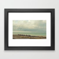 The Rain and The Sea Framed Art Print