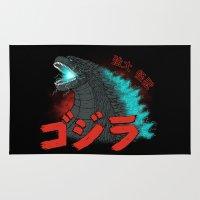Mighty Kaiju Gojira Rug
